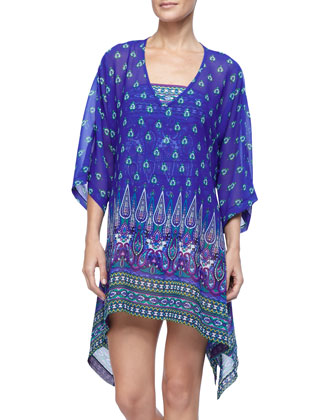 Foulard Frenzy High-Low Tunic Cover Up