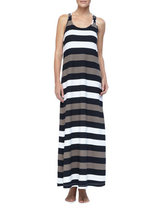 Rugby Striped Long Tank Dress