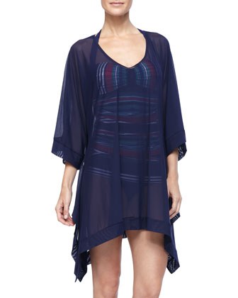 Tulle High Low Tunic Cover Up