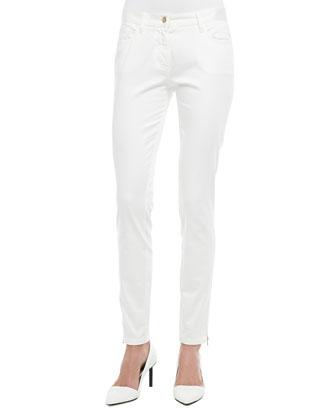 Suki Zipper-Cuff Skinny Jeans