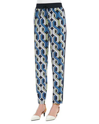 Mariane Printed Silk Pants