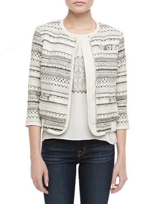 Powell Patterned Zip Jacket