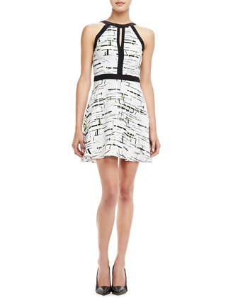 Nika Printed Silk Dress