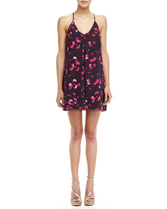 Sleeveless Petal-Print Dress
