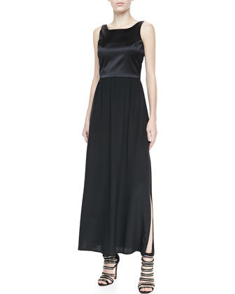 Sleeveless Combo Maxi Dress