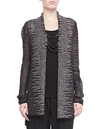 Blurred Striped Cardigan, Women's