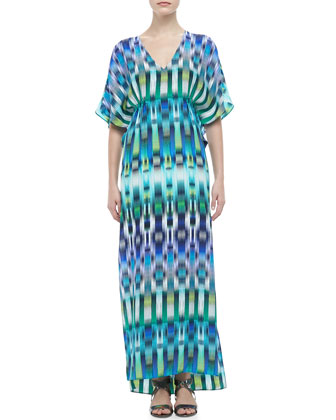 Katrina Printed Silk Maxi Dress