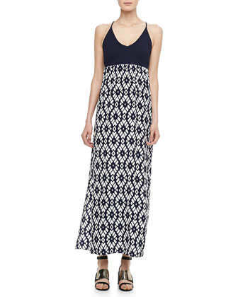 Darrah Printed-Skirt Maxi Dress