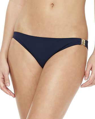 Logo-Center Halter Top & Swim Bottom, Tory Navy