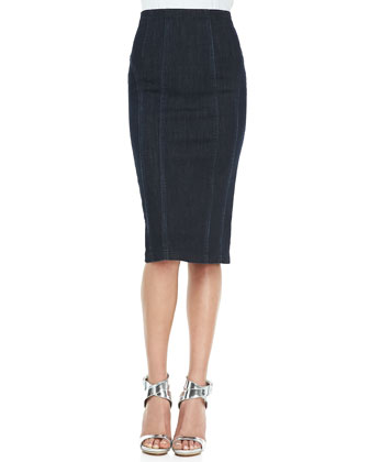 Pencil Strollin' Skirt, Navy