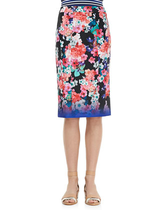Surfin Skirt, Floral Multicolor