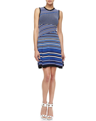 Jet Set Mix-Stripe Dress