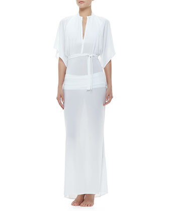 Obie Dolman Short-Sleeve Coverup Gown