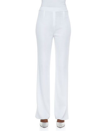 Renata Silver-Button Jacket & Boot-Cut Pants, Women's