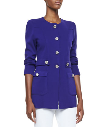 Renata Silver-Button Jacket