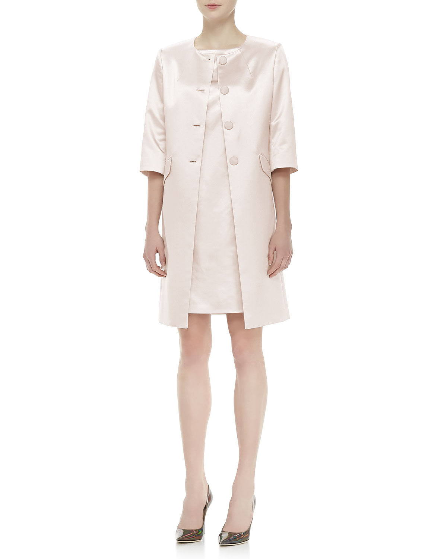 Womens Jacket & Dress Satin Suit   Albert Nipon   Spring blush (18)
