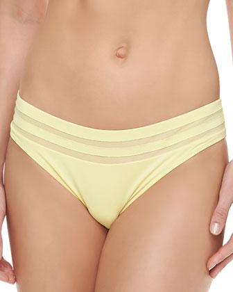 Underwire Halter Bikini Top & Mesh-Inset Hipster Bottom