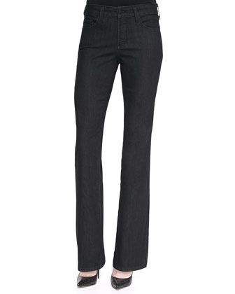 Barbara Dark Enzyme Boot-Cut Jeans, Petite