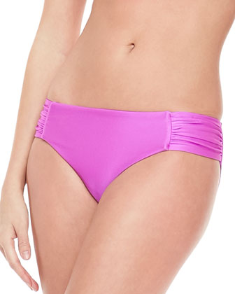 Ruched-Side Swim Bottom