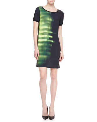 Maudette Printed Shift Dress