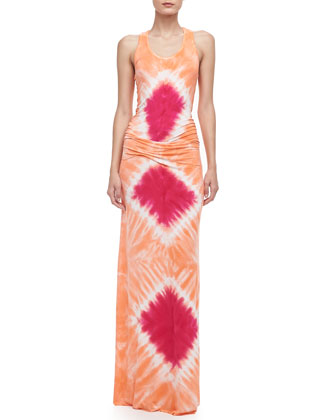 Hamptons Tie-Dye Maxi Dress, Guava