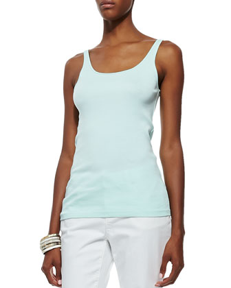Cashmere Cardigan, Sleeveless Silk Top, Organic-Cotton Long Slim Tank & ...