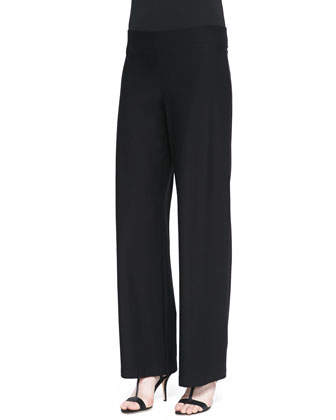 Modern Wide-Leg Pants, Black
