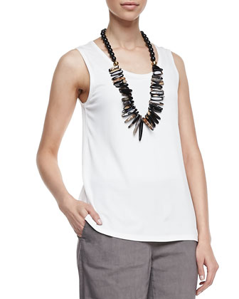 Stretch Silk Jersey Tank, Women's