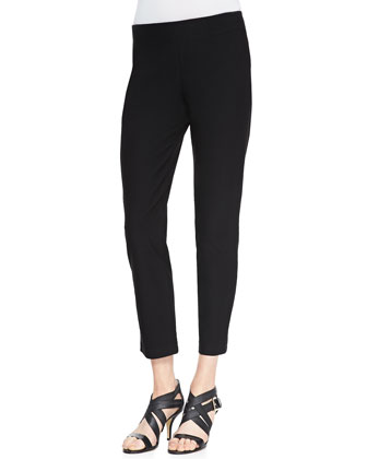 Slim Crepe Ankle Pants