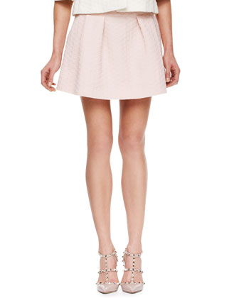 Diamond Jacquard Skirt, Light Pink