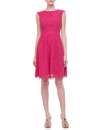 Sleeveless Guipure Lace Dress
