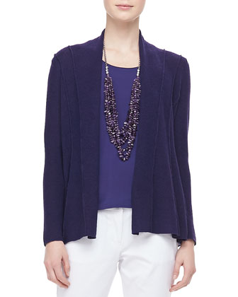 Washable Polished Wool Cardigan, Petite