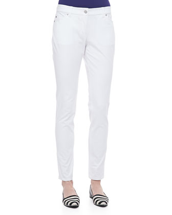 Organic Cotton Skinny Jeans, White