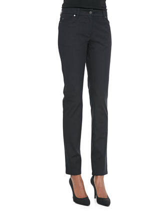 Organic Cotton Skinny Jeans, Black