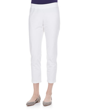 Washable Crepe Slim Ankle Pants, Women's