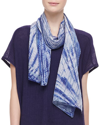 Twilight Shibori Silk Scarf