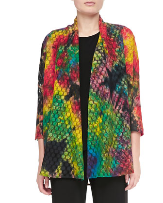 Living Color Soft Lace Jacket, Long Tank & Stretch-Knit Slim Pants