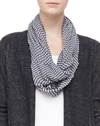 Plaited Angled Cotton-Lyocell Cardigan, Crinkled Ramie Zigzag Infinity ...