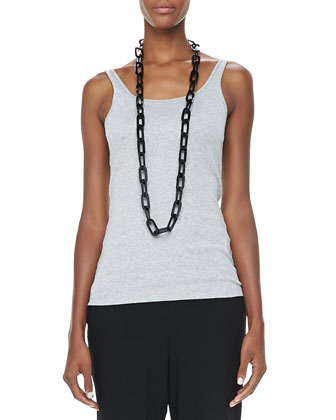 Plaited High-Low Tunic, Slim Tank & Slouchy Tapered Pants, Women's