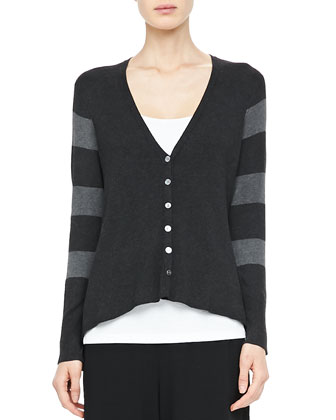 V-Neck Shaped Cardigan
