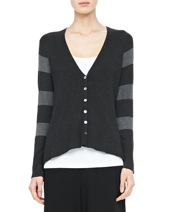 V-Neck Shaped Cardigan, Petite