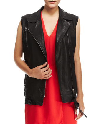 Hubbard Long Leather Vest