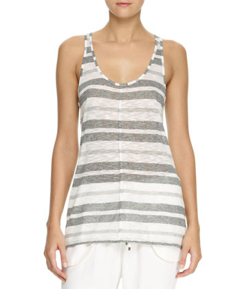 Striped Scoop-Neck Tank