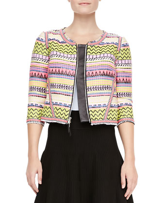 Raffia Raw Edge Jacket & New Mexico Delilah Skirt
