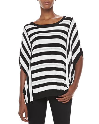 Striped Knit Dolman Sweater