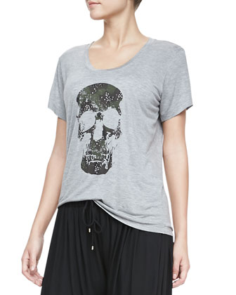 Skull-Graphic Slub Tee