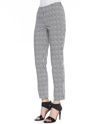 Stanton Painterly Grid Ankle Pants