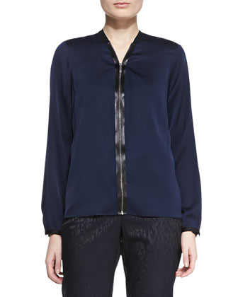 Sharon Silk V-Neck Blouse