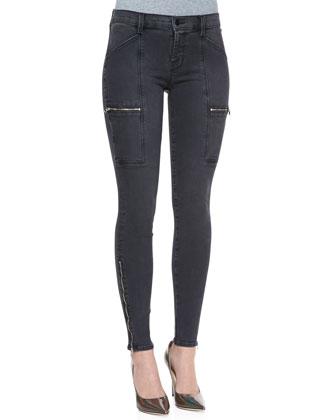 Kassidy Zip-Pocket Skinny Jeans