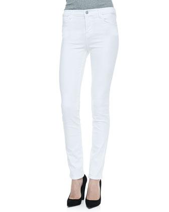 2112 High Rise Rail Jeans, Blanc